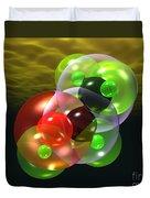 Alcohol Molecule 4 Duvet Cover