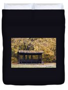Alcove In The Autumn Park Duvet Cover