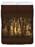Alder Tree Marshland At Sunrise Duvet Cover