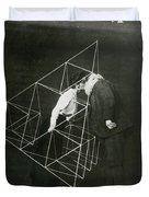 Alexander Graham Bell And Mabel Kissing Duvet Cover