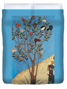 Alexander The Great At The Oracular Tree Duvet Cover by Photo Researchers