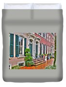 Alexandria Row Houses Duvet Cover