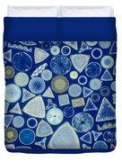Algae, Fossil Diatoms, Lm Duvet Cover