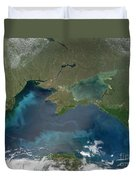 Algal Blooms In The Black Sea Duvet Cover