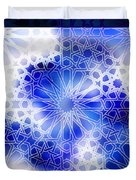 Alhambra Pattern Blue Duvet Cover