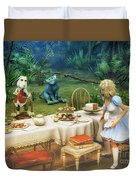 Alice In Wonderland Duvet Cover by Jutta Maria Pusl