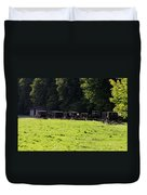 All The Amish Buggies Duvet Cover