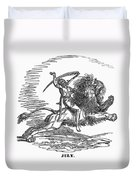 Allegory: July, 1837 Duvet Cover