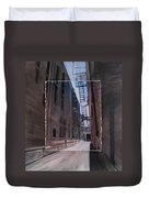 Alley With Fire Escape Layered Duvet Cover