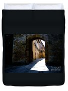 Alley With Sunlight Duvet Cover