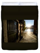 Alley With Sunshine Duvet Cover