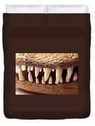 Alligator Skull Teeth Duvet Cover