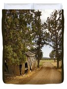 Almost A Pile Of Wood Barn Vertical Duvet Cover