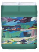 Almost Abstract Painting Duvet Cover