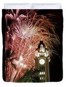 Aloha Tower Fireworks Duvet Cover
