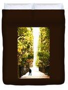 Alone In A Parisian Park Duvet Cover