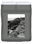 Alone Time Bw Duvet Cover