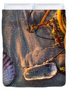 Along The Beach Texas Duvet Cover