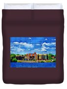 Along The Tennessee River In Decatur Alabama Duvet Cover