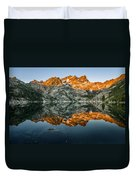 Alpenglow At Upper Sardine Lake Duvet Cover
