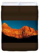 Alpenglow In Zion Canyon Duvet Cover