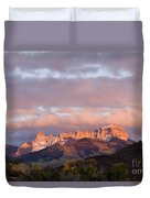 Alpenglow On The Cimarron Mountains - D003083a Duvet Cover