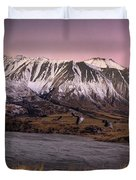Alpenglow Over The Clyde River Duvet Cover