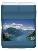 Alpine Lake And Mountains Duvet Cover