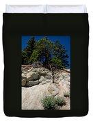 Alpine Pine Hangs On For Life Duvet Cover
