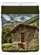 Alpine Ruins Duvet Cover