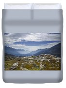 Alps And Road Duvet Cover