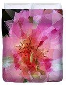 Alstroemeria Cubist Style Duvet Cover