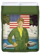 Amelia Earhart Calendar Art Duvet Cover