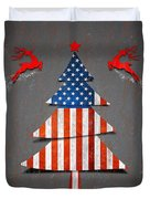 America X'mas Tree Duvet Cover by Atiketta Sangasaeng