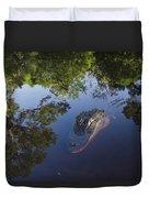 American Alligator In The Okefenokee Swamp Duvet Cover