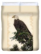 American Bald Eagle In Tree Duvet Cover