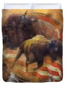 American Buffalo Duvet Cover by Carol Cavalaris