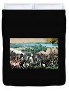 American Civil War, Battle Of Baton Duvet Cover