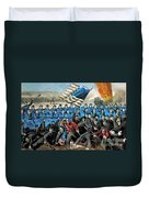 American Civil War, Battle Of Malvern Duvet Cover by Photo Researchers