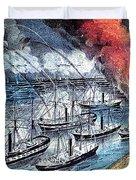American Civil War, Farraguts Fleet Duvet Cover