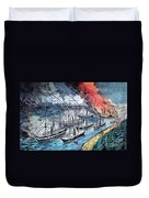 American Civil War, Farraguts Fleet Duvet Cover