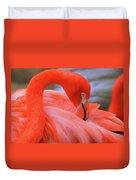 American Flamingo Duvet Cover