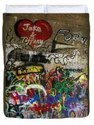 American Graffiti 17- Jake From State Farm Duvet Cover