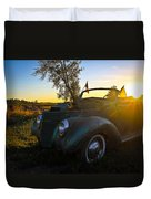 American Hot Rod Sunset Duvet Cover