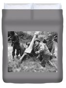 American Howitzers Shell German Forces Duvet Cover