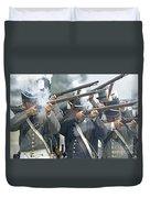 American Infantry Firing Duvet Cover