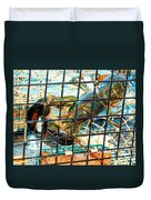 American Lobster In Trap In Chatham On Cape Cod Duvet Cover