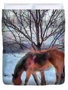 American Paint In Winter Duvet Cover by Jeff Kolker