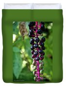 American Pokeweed Berries Duvet Cover