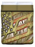 American Streets Of Gold Duvet Cover